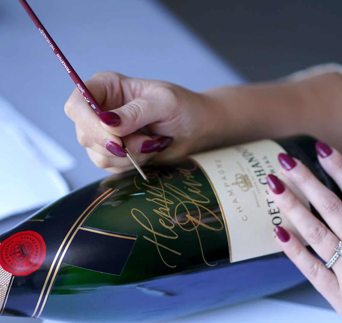 Painting Champagne Bottle